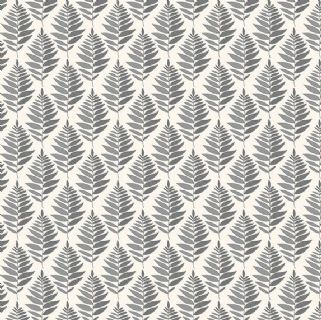 Fern Garden by Makower UK - 6294 - Stylised Fern Leaves, Grey on Off White - 2078_G - Cotton Fabric
